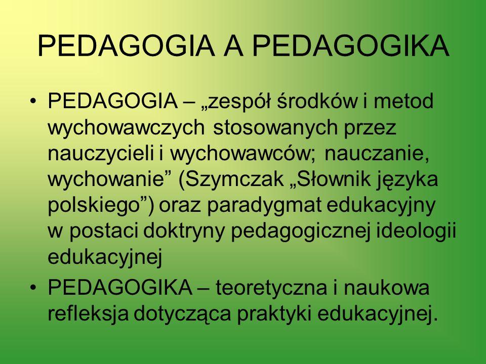 PEDAGOGIA A PEDAGOGIKA