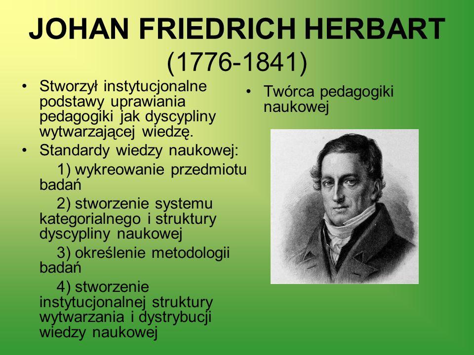 JOHAN FRIEDRICH HERBART (1776-1841)