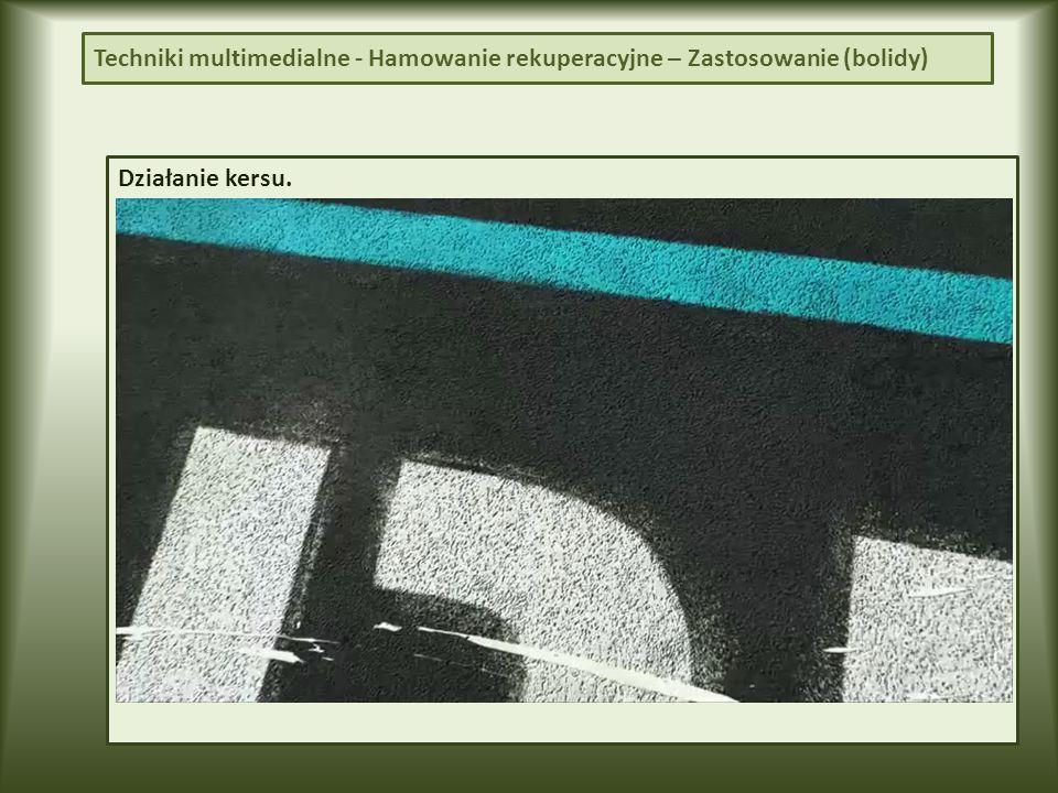 Techniki multimedialne - Hamowanie rekuperacyjne – Zastosowanie (bolidy)