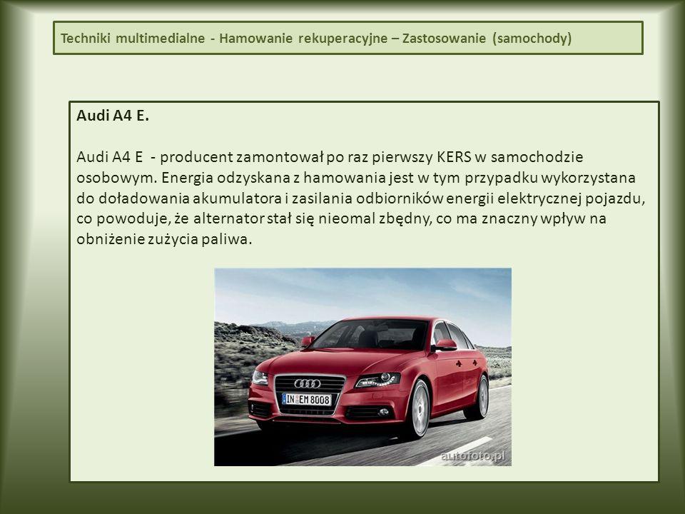 Techniki multimedialne - Hamowanie rekuperacyjne – Zastosowanie (samochody)