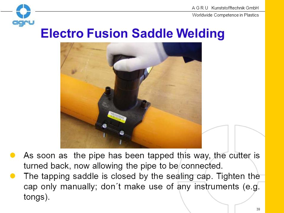 Electro Fusion Saddle Welding