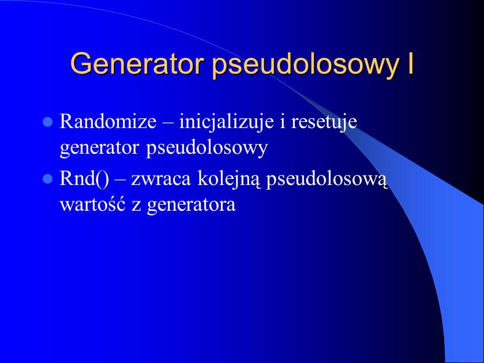 Generator pseudolosowy I