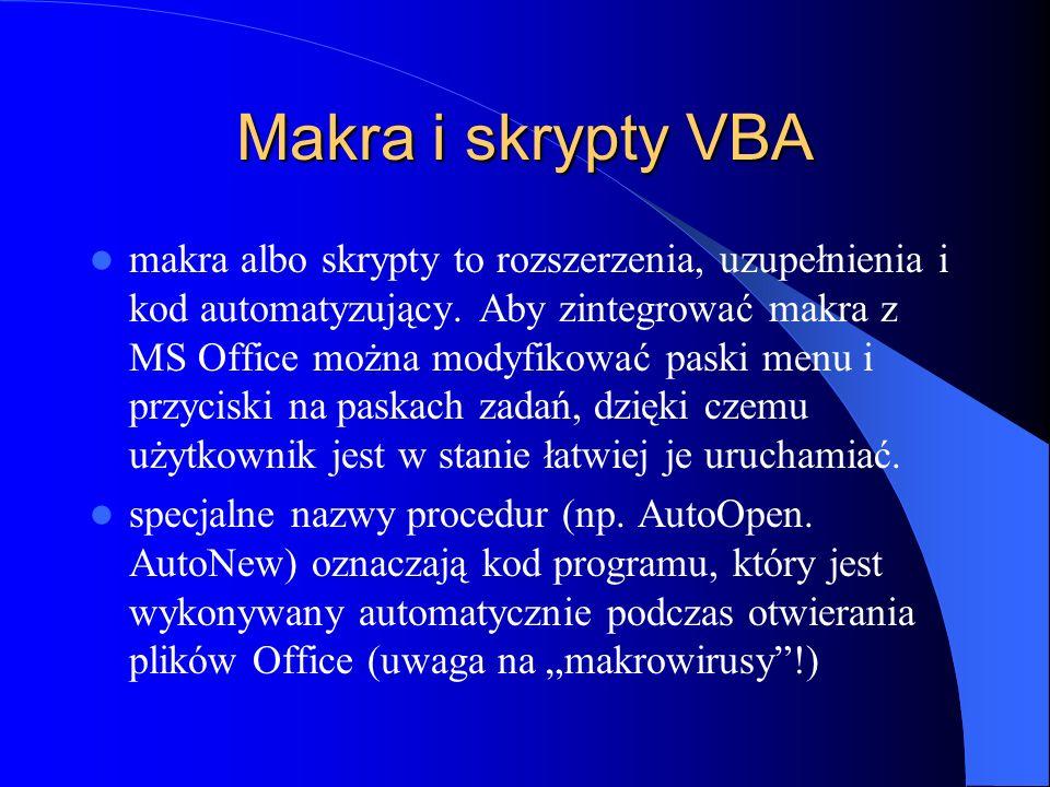 Makra i skrypty VBA