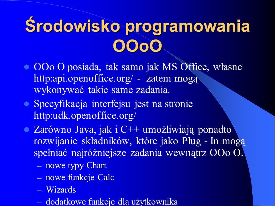 Środowisko programowania OOoO