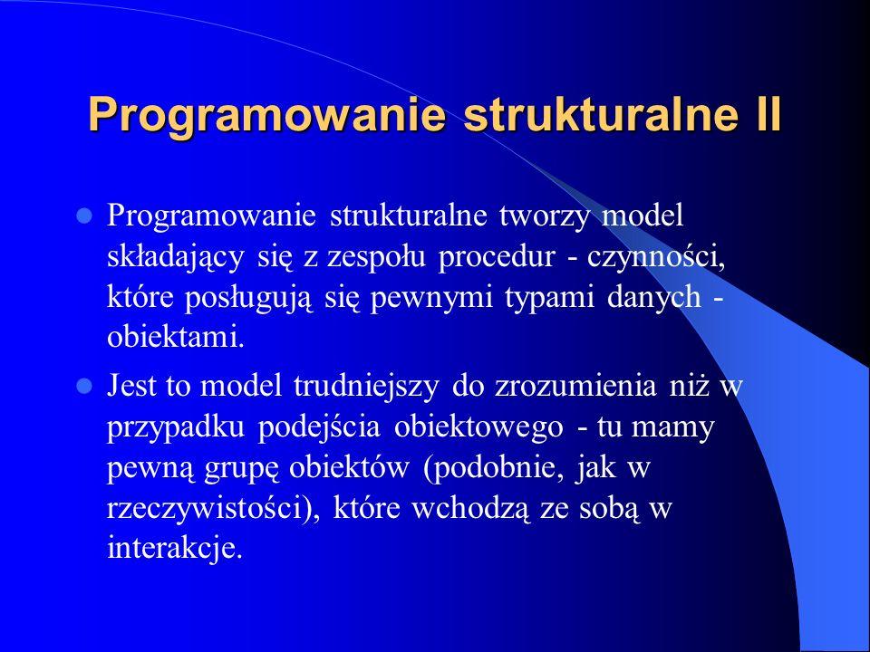Programowanie strukturalne II