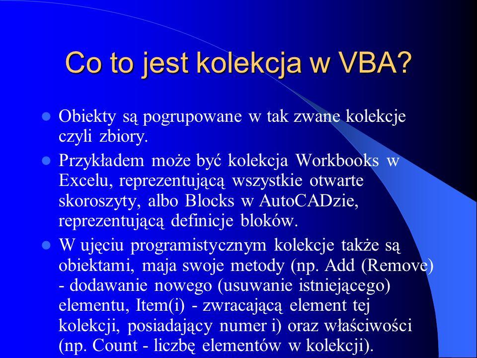 Co to jest kolekcja w VBA
