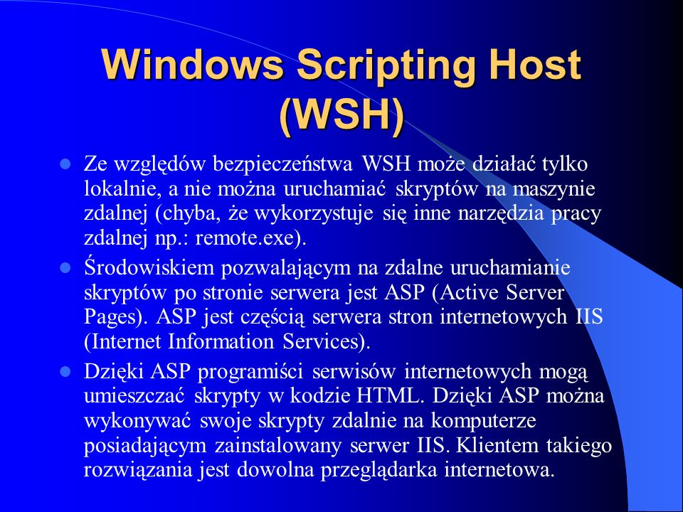 Windows Scripting Host (WSH)