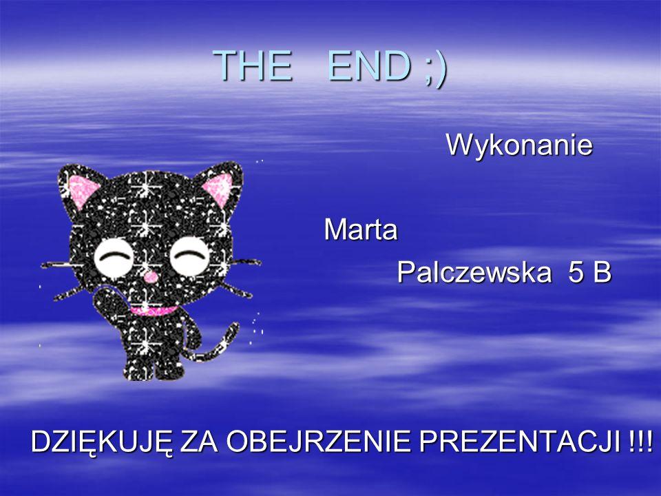 THE END ;) Wykonanie Marta Palczewska 5 B