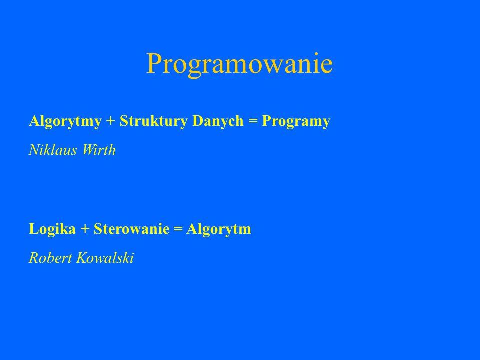 Programowanie Algorytmy + Struktury Danych = Programy Niklaus Wirth