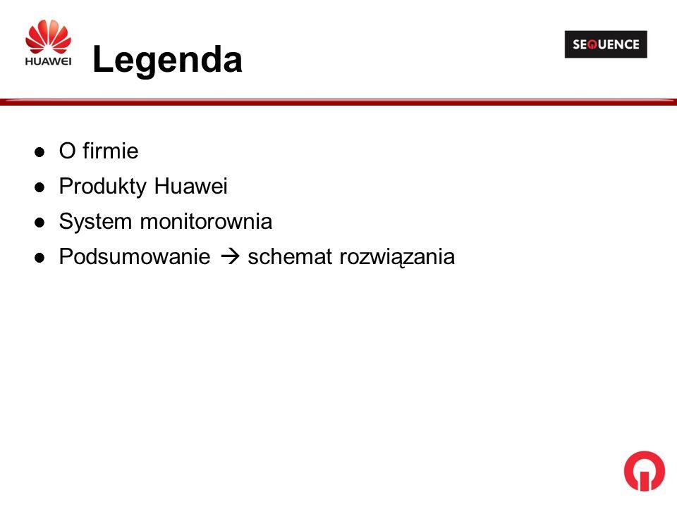Legenda O firmie Produkty Huawei System monitorownia