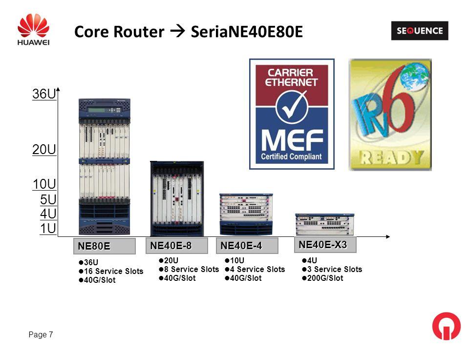 Core Router  SeriaNE40E80E