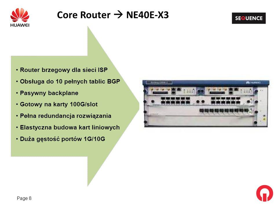 Core Router  NE40E-X3 Router brzegowy dla sieci ISP