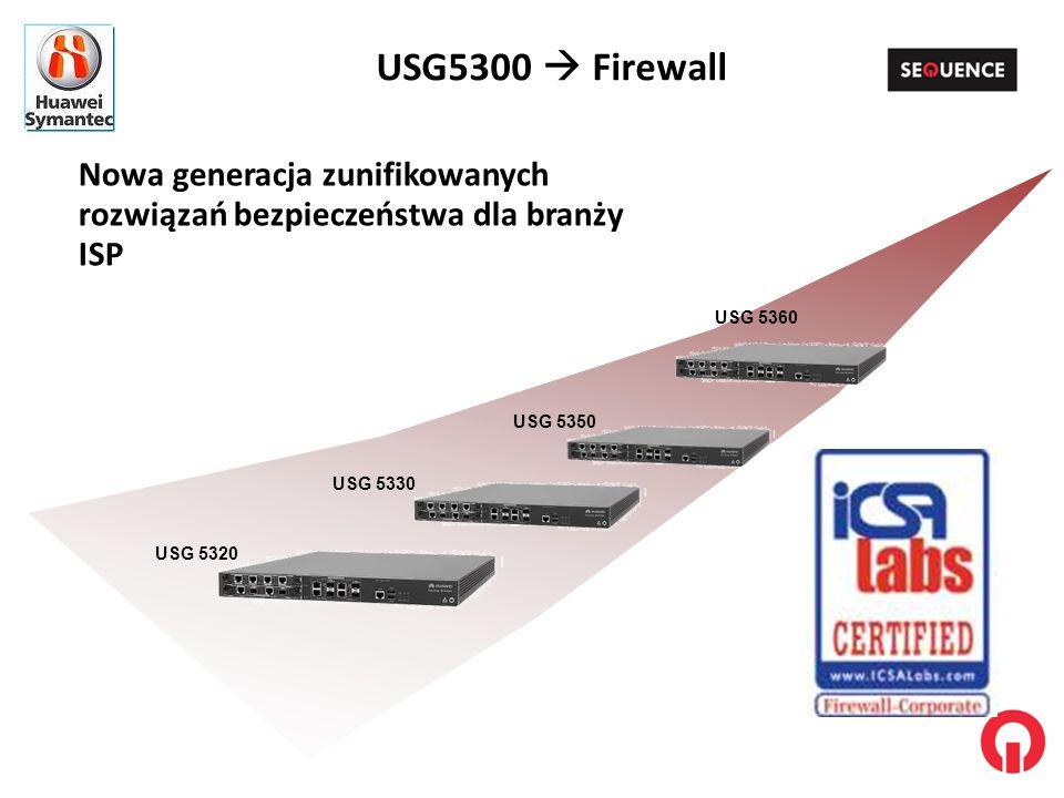 USG5300  Firewall Nowa generacja zunifikowanych rozwiązań bezpieczeństwa dla branży ISP. USG 5360.
