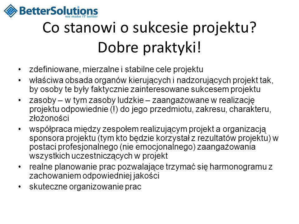 Co stanowi o sukcesie projektu Dobre praktyki!