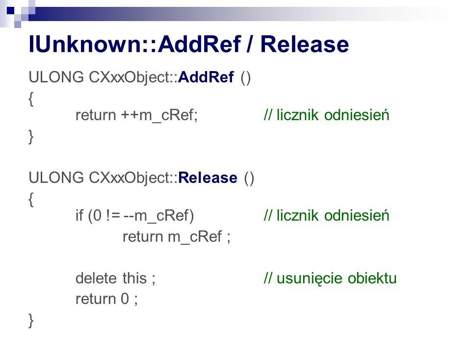 IUnknown::AddRef / Release