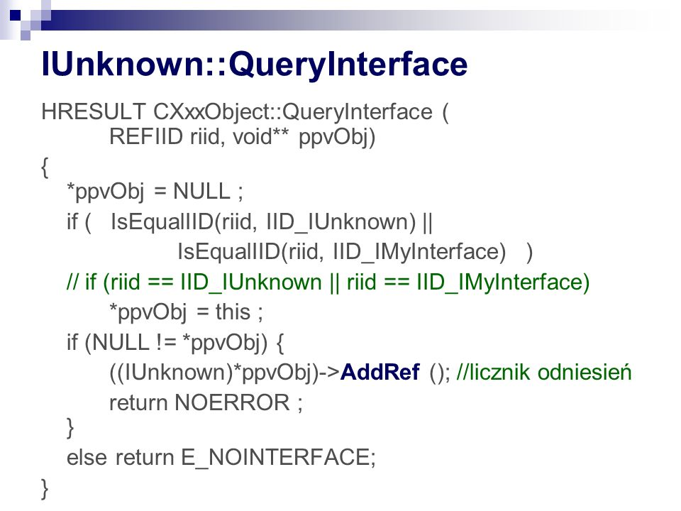 IUnknown::QueryInterface