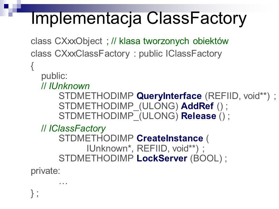Implementacja ClassFactory