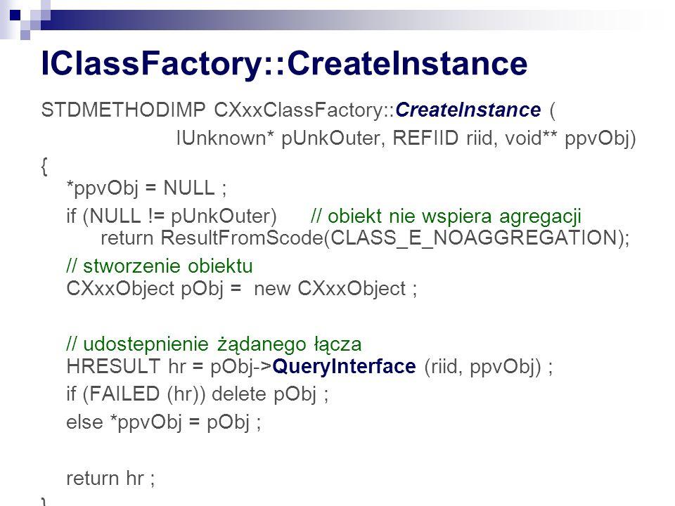 IClassFactory::CreateInstance