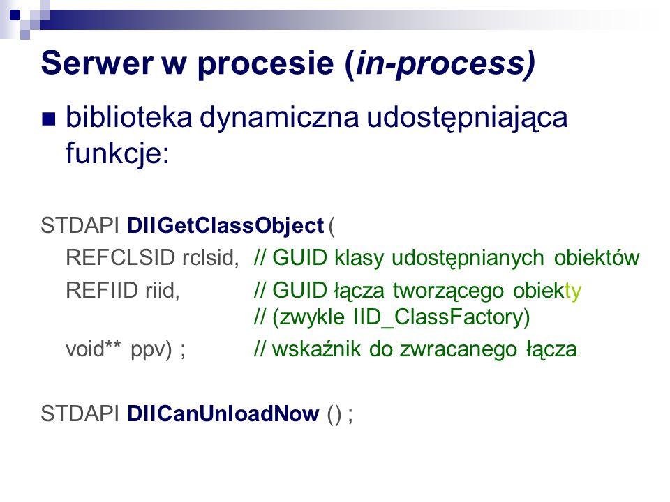 Serwer w procesie (in-process)