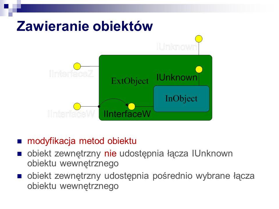 Zawieranie obiektów modyfikacja metod obiektu