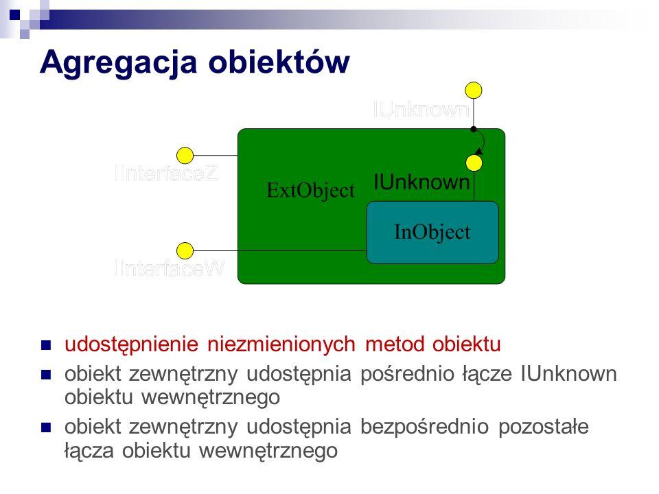 Agregacja obiektów udostępnienie niezmienionych metod obiektu