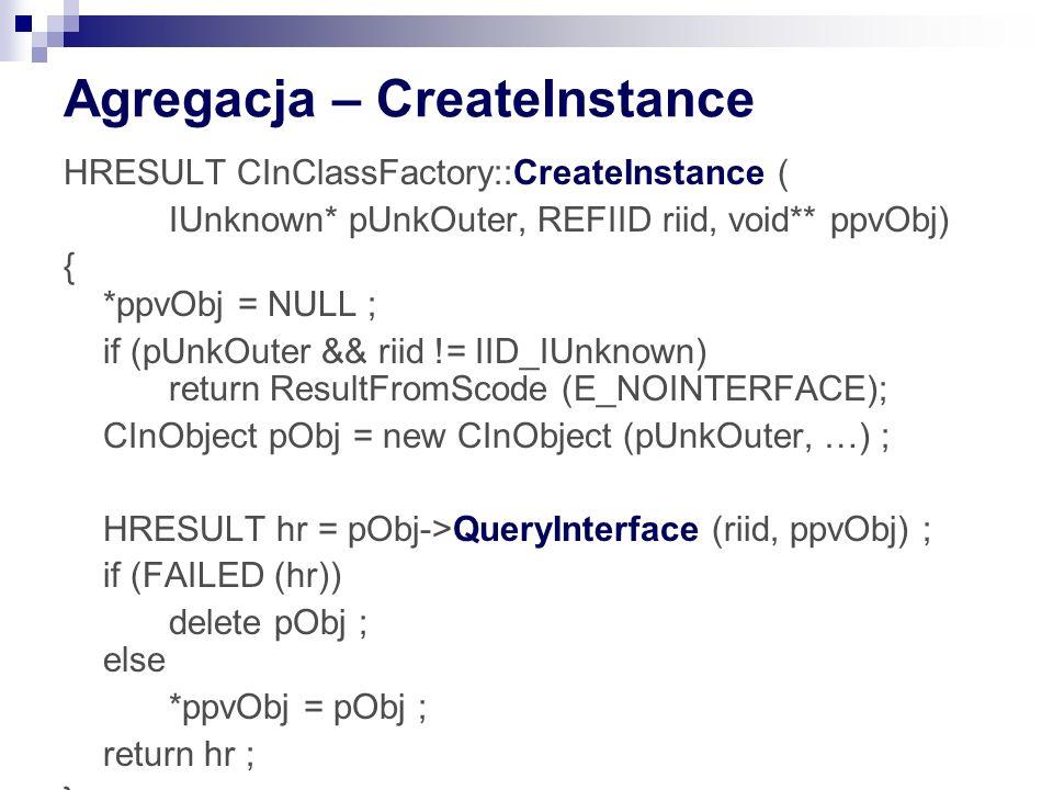 Agregacja – CreateInstance