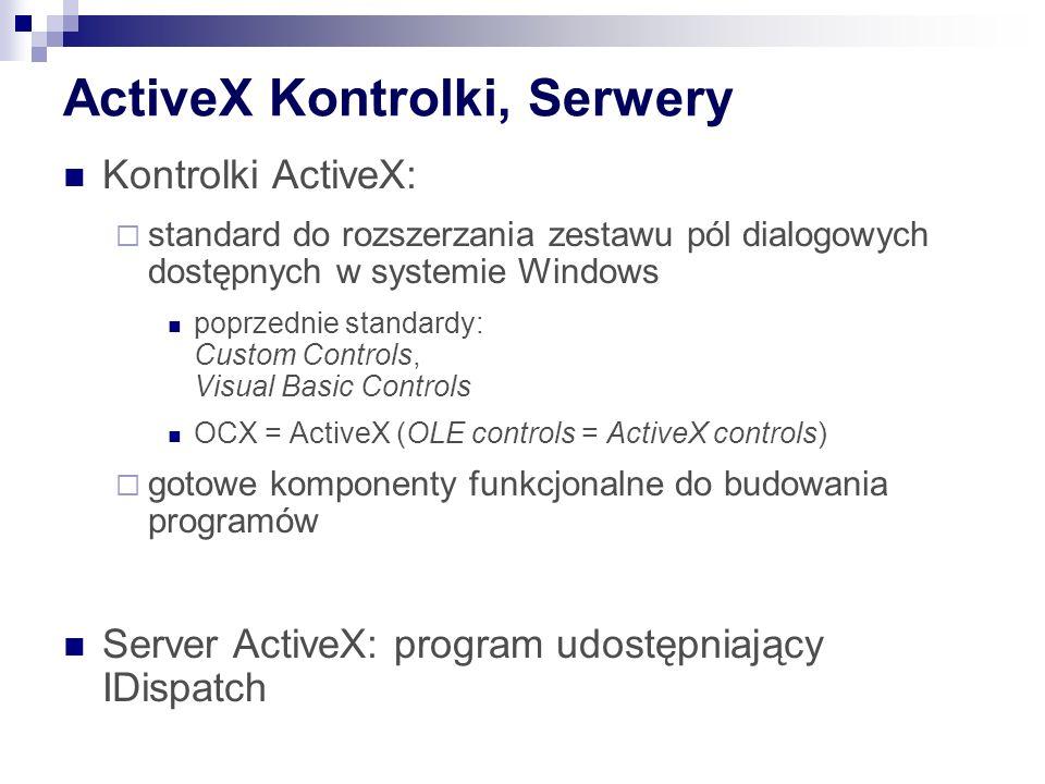 ActiveX Kontrolki, Serwery