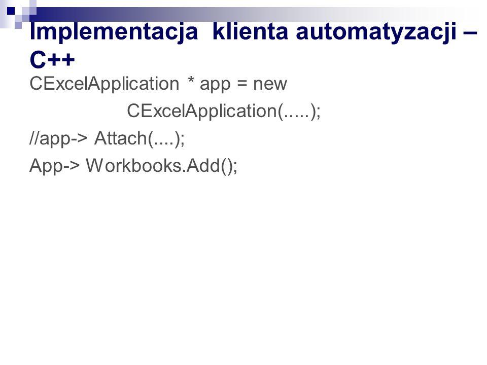 Implementacja klienta automatyzacji – C++