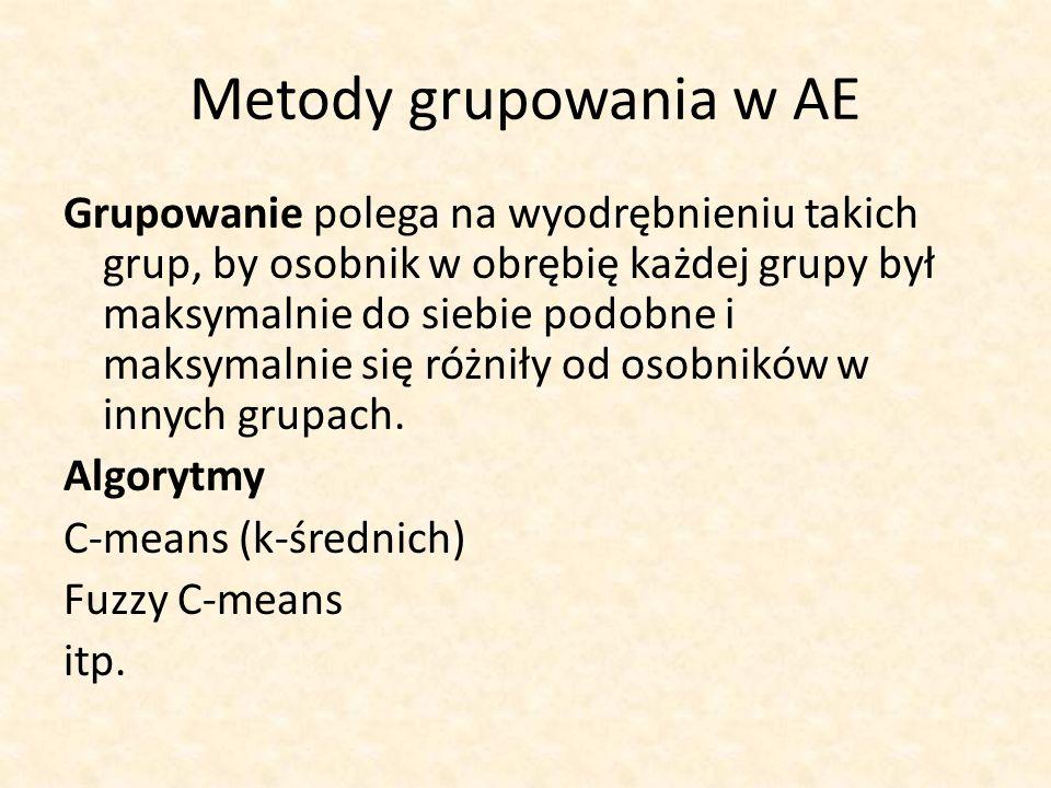 Metody grupowania w AE
