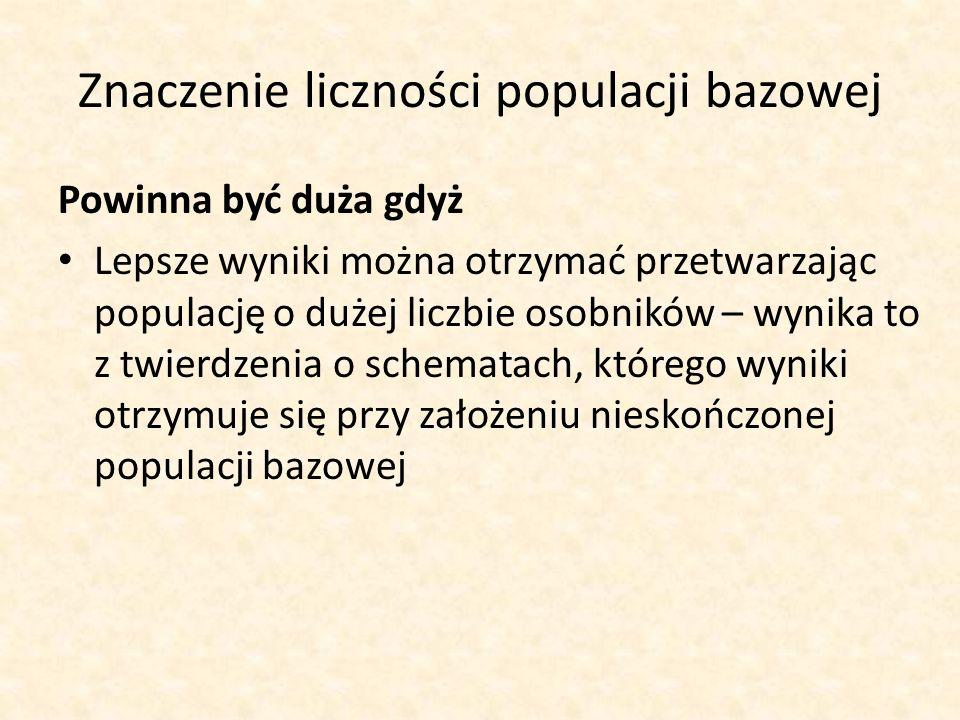 Znaczenie liczności populacji bazowej
