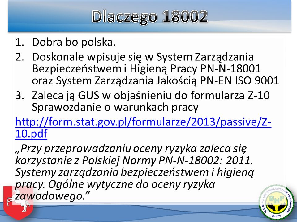 Dlaczego 18002 Dobra bo polska.