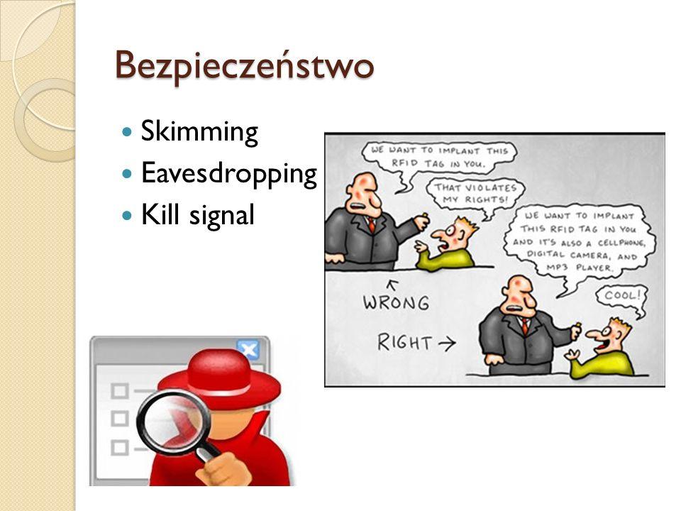Bezpieczeństwo Skimming Eavesdropping Kill signal