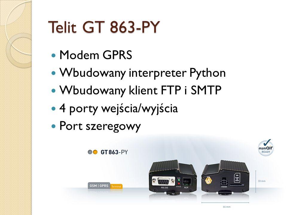 Telit GT 863-PY Modem GPRS Wbudowany interpreter Python