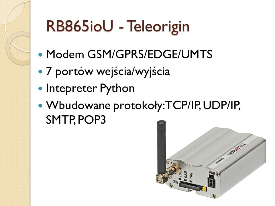RB865ioU - Teleorigin Modem GSM/GPRS/EDGE/UMTS