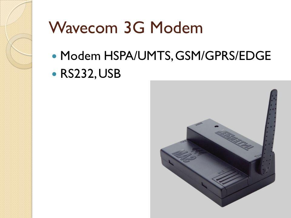 Wavecom 3G Modem Modem HSPA/UMTS, GSM/GPRS/EDGE RS232, USB