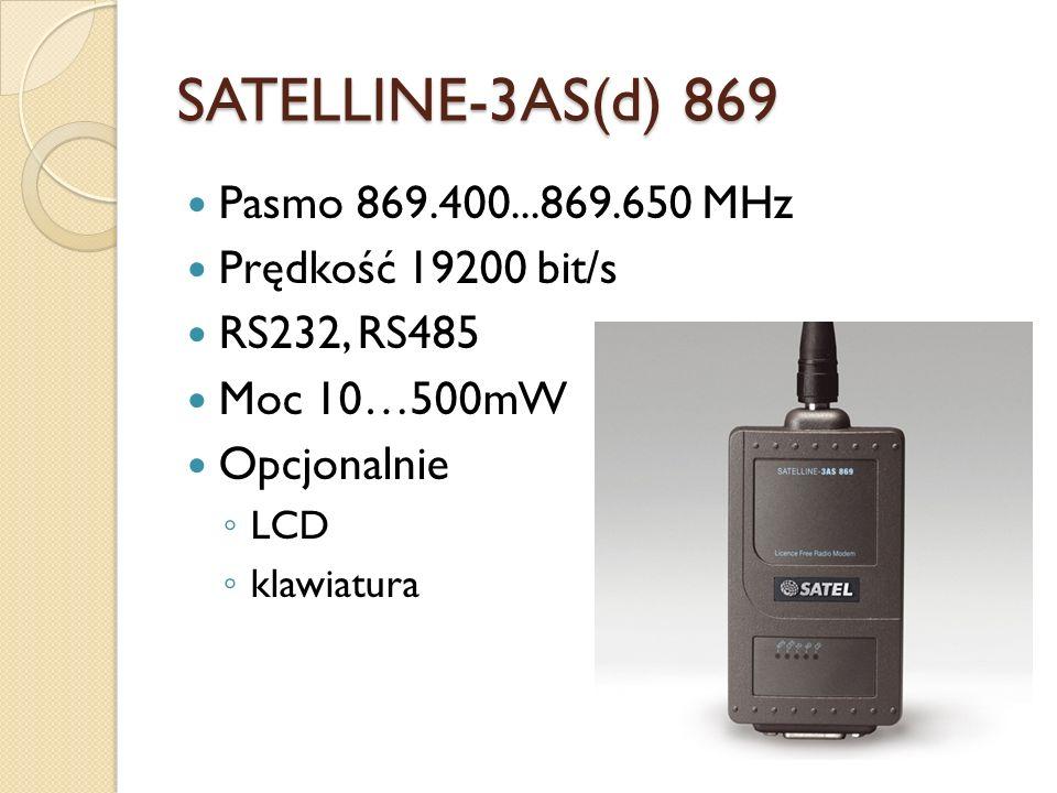 SATELLINE-3AS(d) 869 Pasmo 869.400...869.650 MHz Prędkość 19200 bit/s