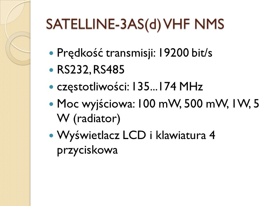 SATELLINE-3AS(d) VHF NMS