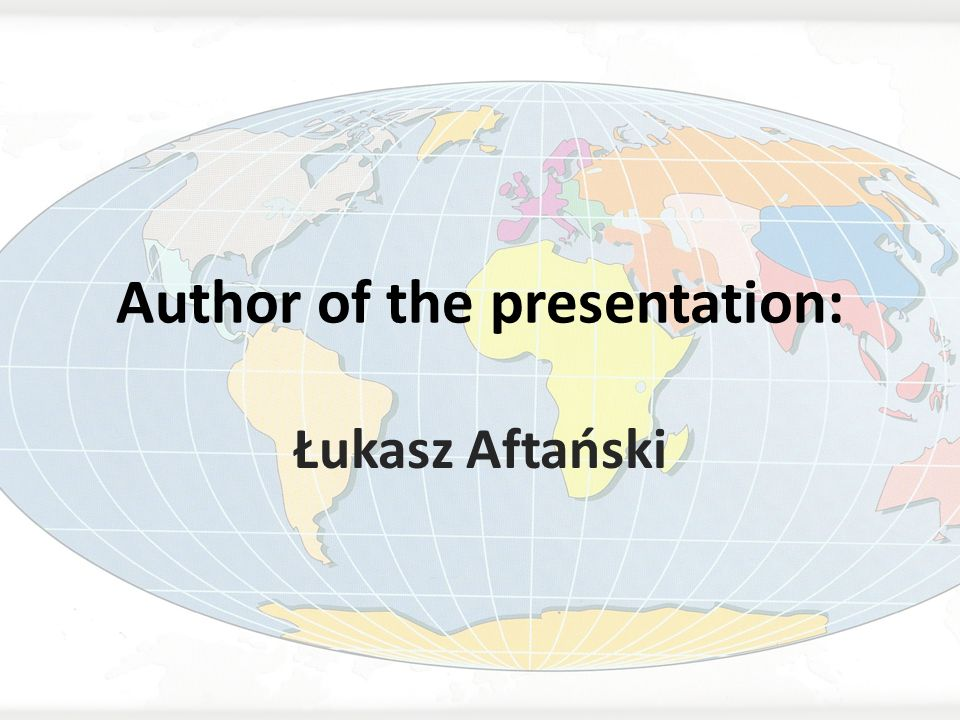 Author of the presentation: