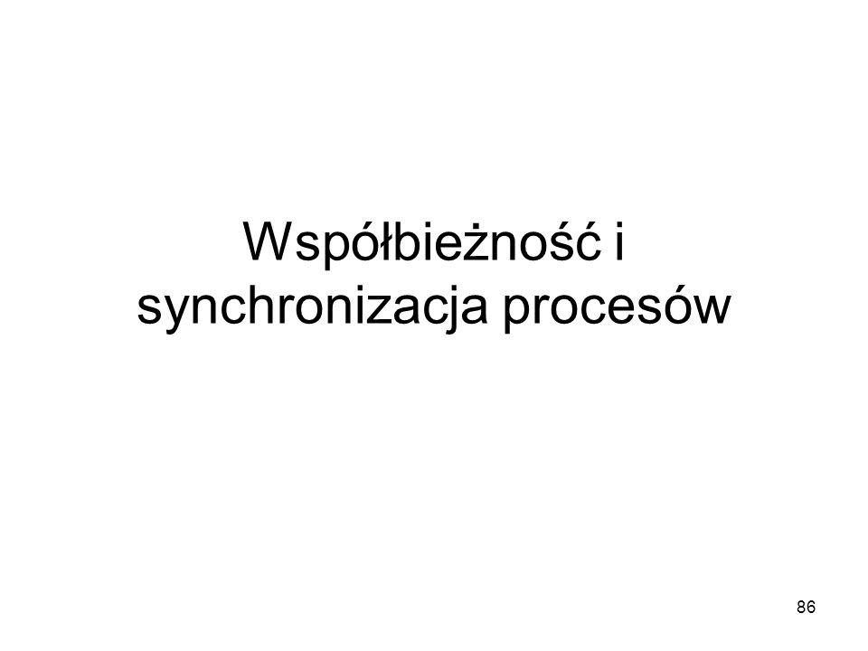 Współbieżność i synchronizacja procesów