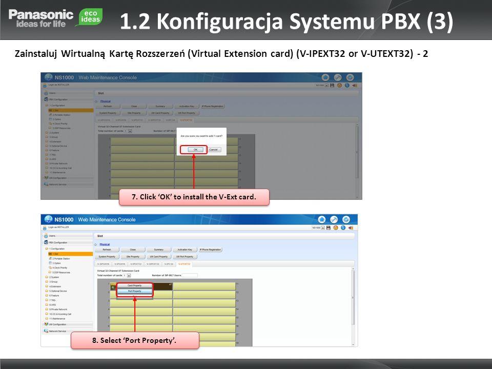 1.2 Konfiguracja Systemu PBX (3)