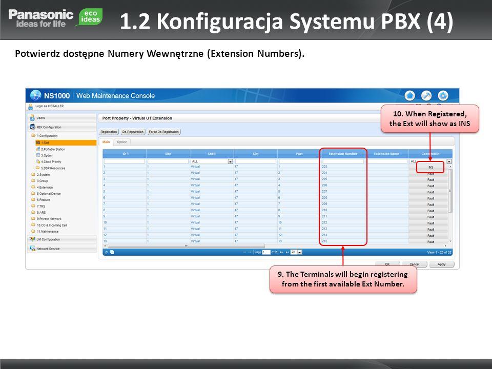 1.2 Konfiguracja Systemu PBX (4)