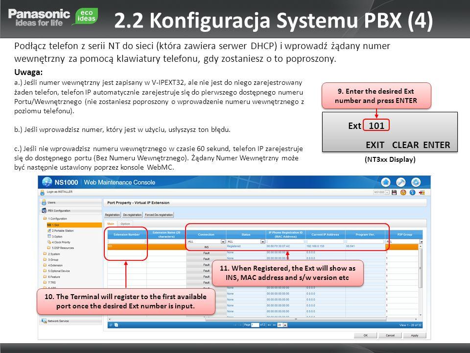2.2 Konfiguracja Systemu PBX (4)