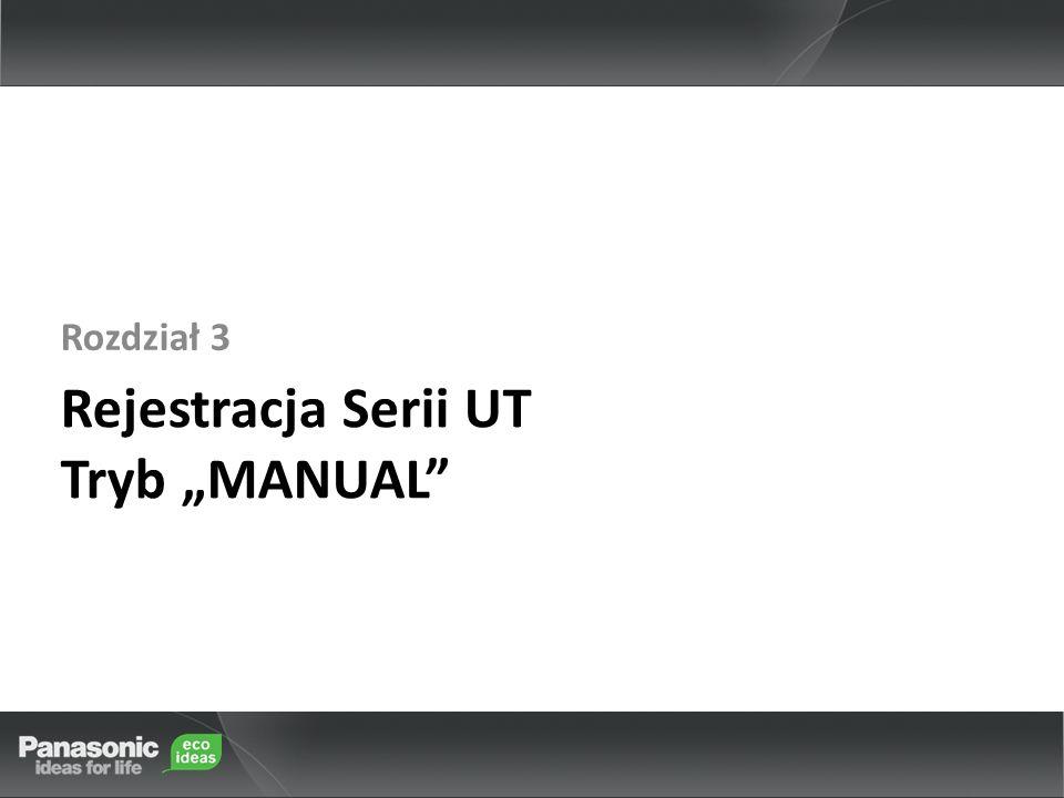 """Rejestracja Serii UT Tryb """"MANUAL"""