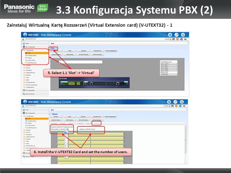 3.3 Konfiguracja Systemu PBX (2)