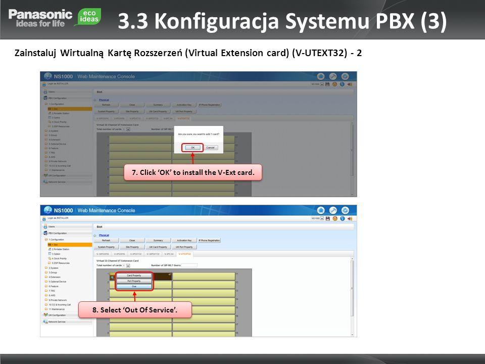 3.3 Konfiguracja Systemu PBX (3)