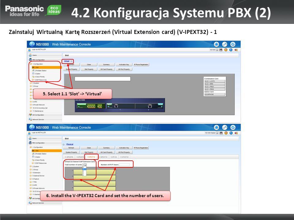 4.2 Konfiguracja Systemu PBX (2)