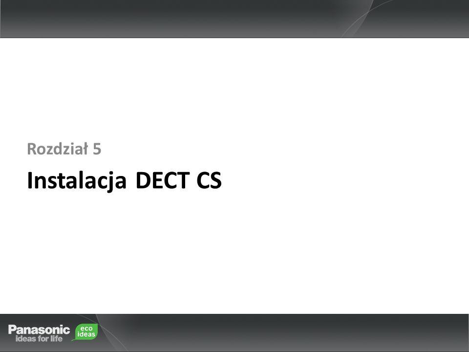 Rozdział 5 Instalacja DECT CS