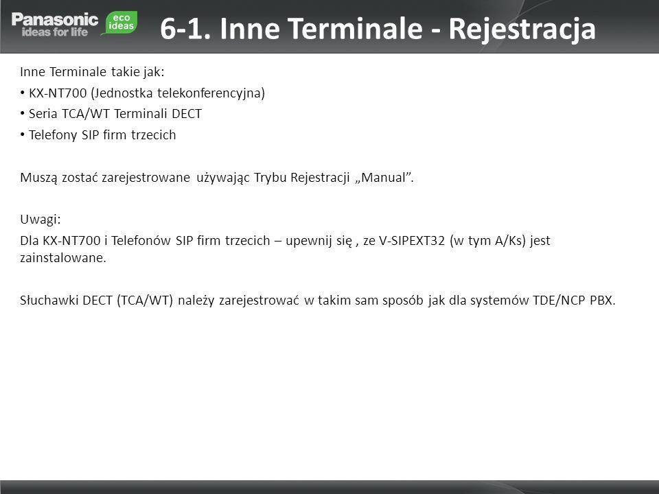 6-1. Inne Terminale - Rejestracja