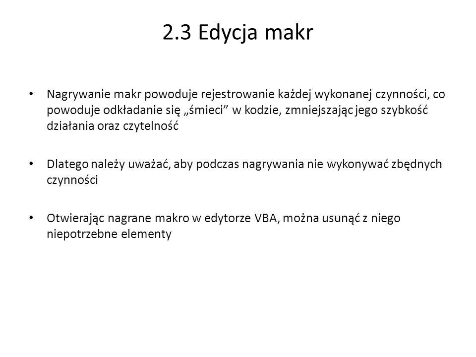 2.3 Edycja makr