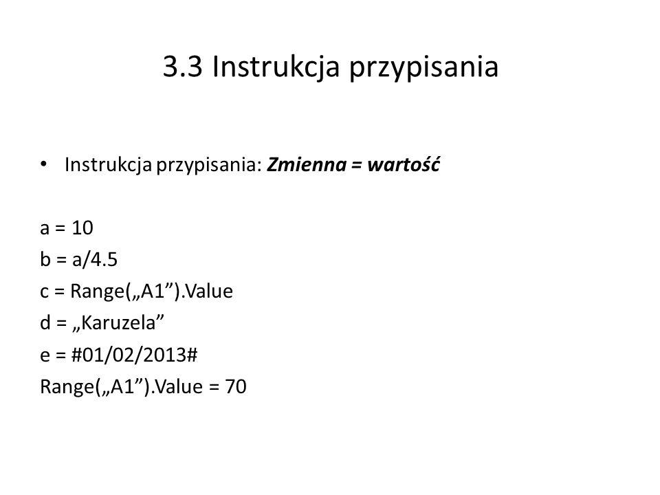3.3 Instrukcja przypisania